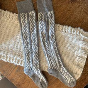 Free People Thigh High Knit Socks NWOT